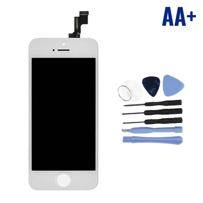iPhone SE/5S Scherm (Touchscreen + LCD + Onderdelen) AA+ Kwaliteit - Wit + Gereedschap