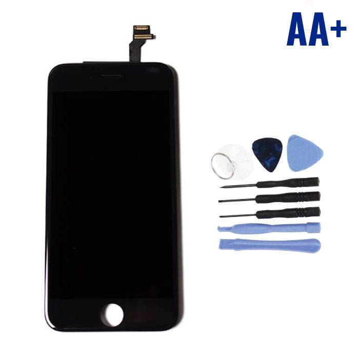 "iPhone 6 4.7"" Scherm (Touchscreen + LCD + Onderdelen) AA+ Kwaliteit - Zwart + Gereedschap"