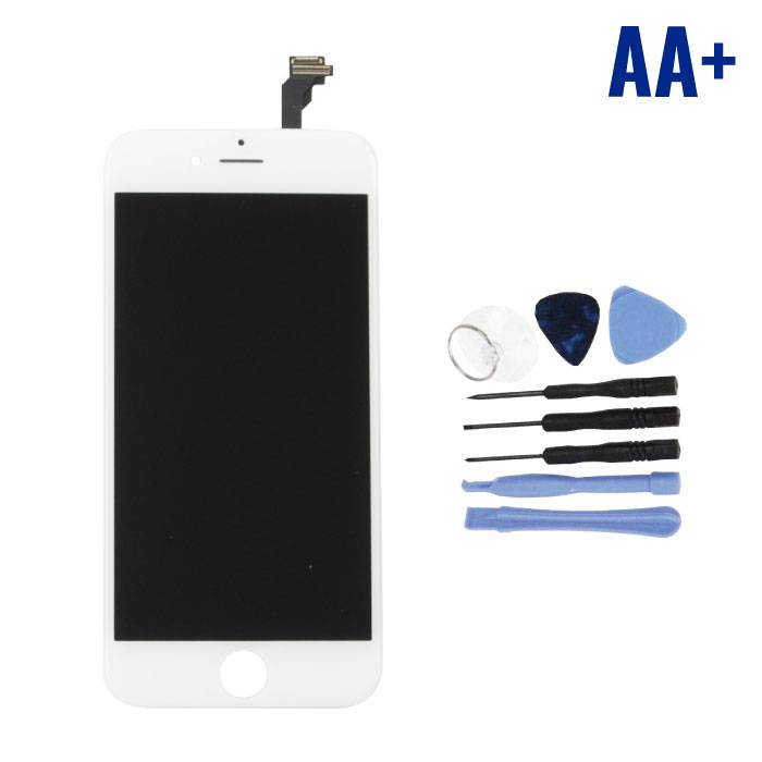 """iPhone 6 4.7 """"Screen (Touchscreen + LCD + Parts) AA + Quality - White + Tools"""