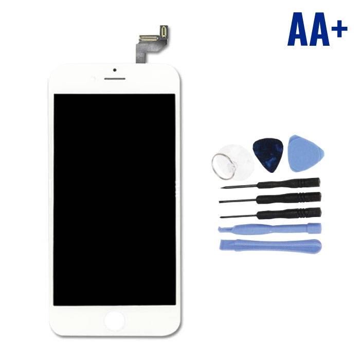 """Écran iPhone 6S 4.7 """"(Écran tactile + LCD + Pièces) AA + Qualité - Blanc + Outils"""