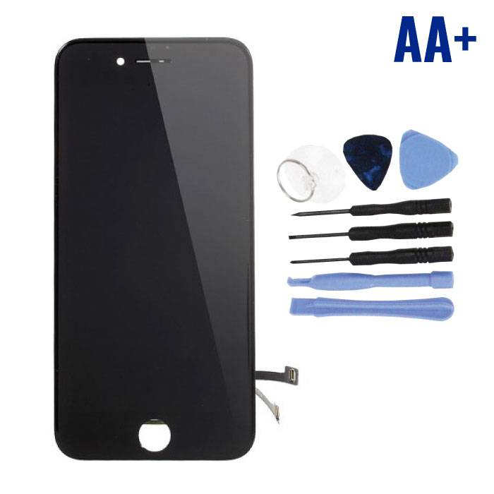 iPhone 7 Screen (Touchscreen + LCD + Parts) AA + Quality - Black + Tools