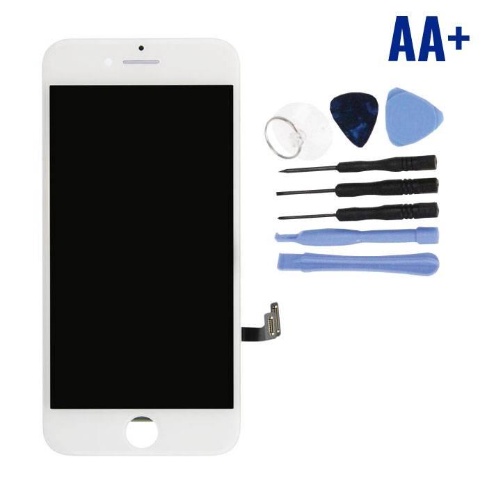 cran iPhone 7 (cran tactile + LCD + PiŠces) AA + Qualit' - Blanc + Outils