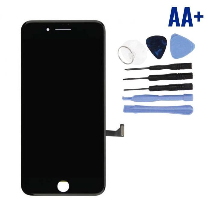 iPhone 7 Plus Scherm (Touchscreen + LCD + Onderdelen) AA+ Kwaliteit - Zwart + Gereedschap