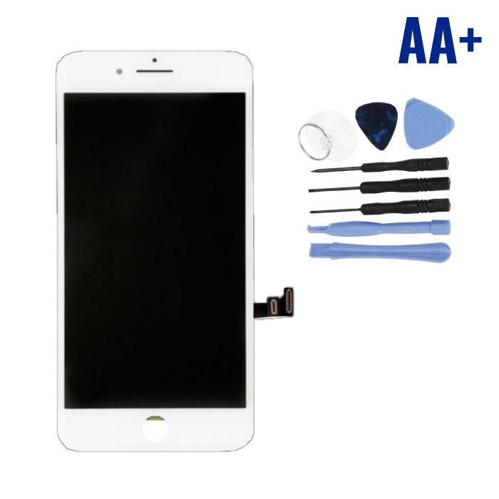 Écran iPhone 8 Plus (Écran tactile + LCD + Pièces) AA + Qualité - Blanc + Outils