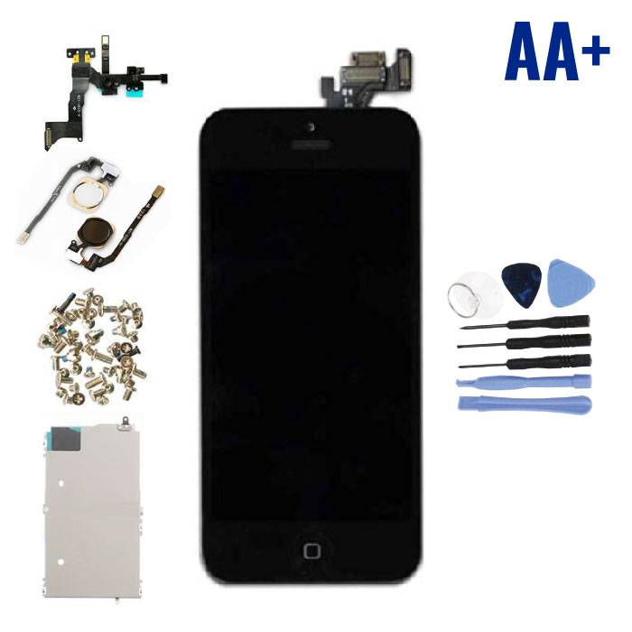iPhone 5 Voorgemonteerd Scherm (Touchscreen + LCD + Onderdelen) AA+ Kwaliteit - Zwart + Gereedschap