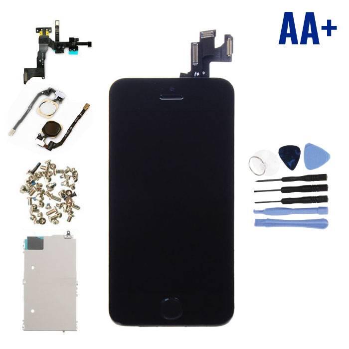 iPhone 5S Voorgemonteerd Scherm (Touchscreen + LCD + Onderdelen) AA+ Kwaliteit - Zwart + Gereedschap