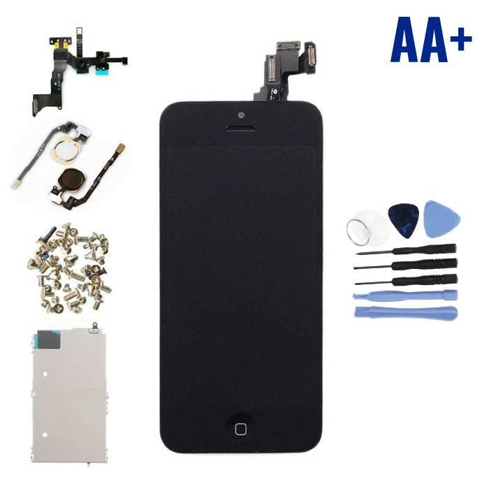 Ecran pré-assemblé pour iPhone 5C (Écran tactile + LCD + Pièces) AA + Qualité - Noir + Outils
