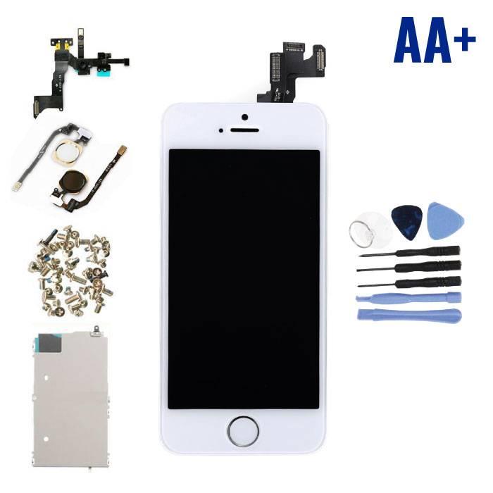 iPhone SE Voorgemonteerd Scherm (Touchscreen + LCD + Onderdelen) AA+ Kwaliteit - Wit + Gereedschap