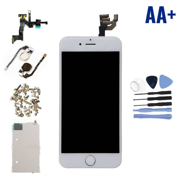 """iPhone 6 4.7"""" Voorgemonteerd Scherm (Touchscreen + LCD + Onderdelen) AA+ Kwaliteit - Wit + Gereedschap"""