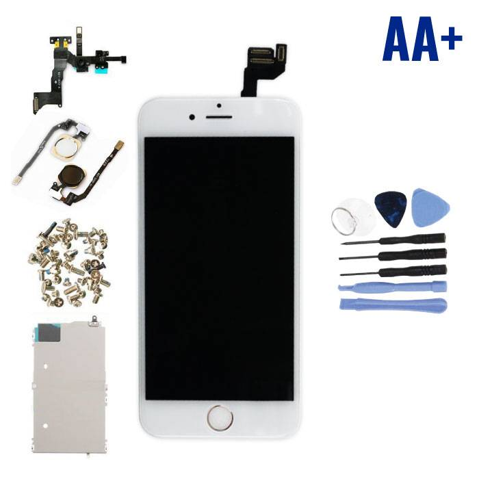 "iPhone 6S 4.7 ""Pre-assembled Screen (Touchscreen + LCD + Parts) AA + Quality - White + Tools"