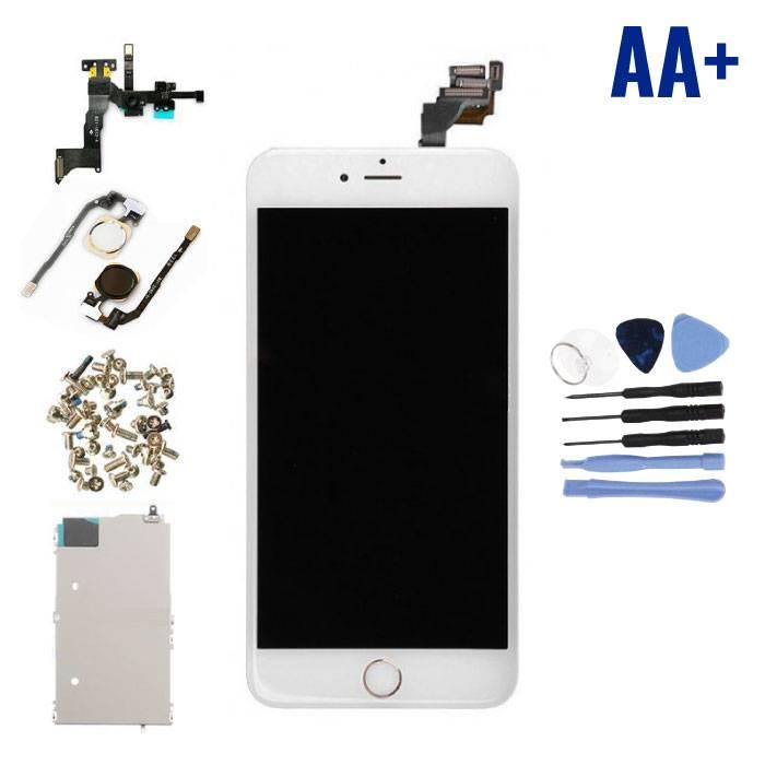 iPhone 6S Plus Voorgemonteerd Scherm (Touchscreen + LCD + Onderdelen) AA+ Kwaliteit - Wit + Gereedschap