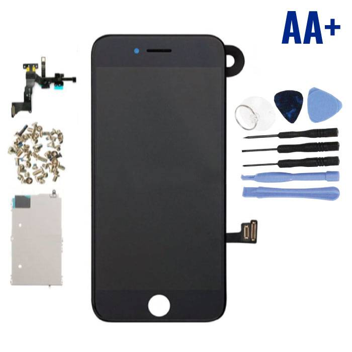 iPhone 7 Pre-assembled Screen (Touchscreen + LCD + Parts) AA + Quality - Black + Tools