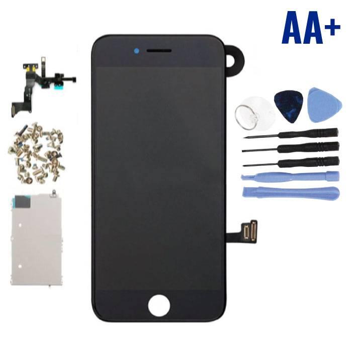 iPhone 7 Voorgemonteerd Scherm (Touchscreen + LCD + Onderdelen) AA+ Kwaliteit - Zwart + Gereedschap