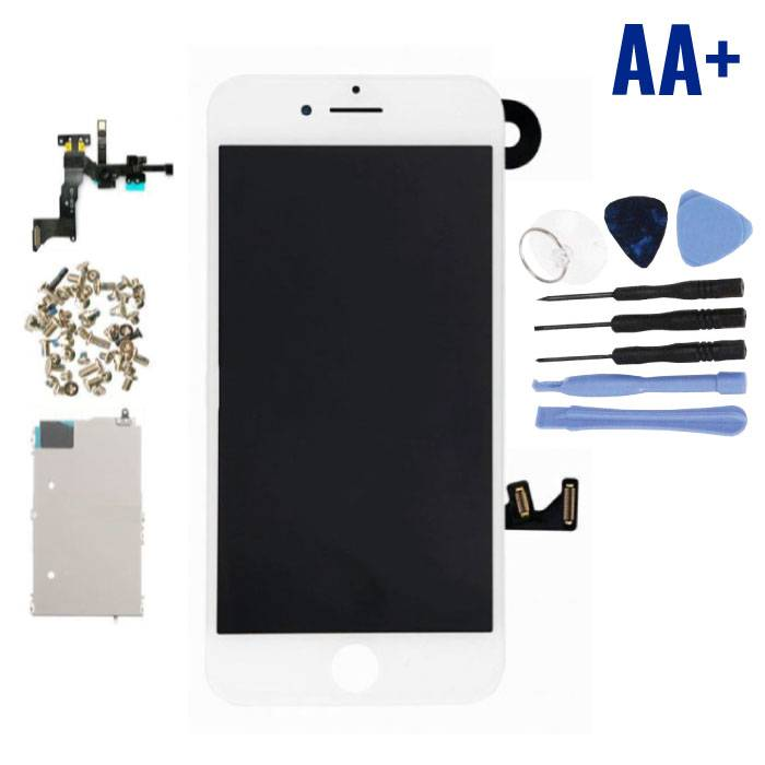 Écran pré-assemblé pour iPhone 7 Plus (Écran tactile + LCD + Pièces) AA + Qualité - Blanc + Outils