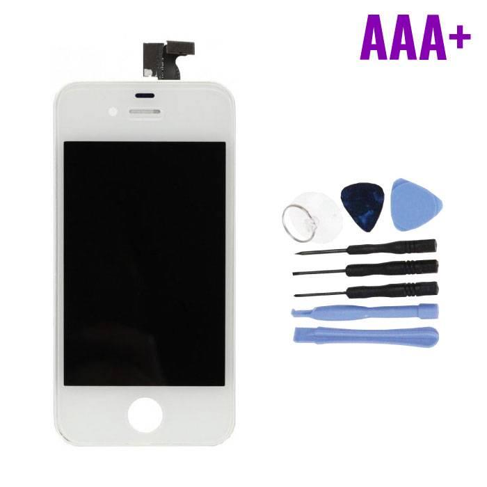 Écran iPhone 4 (Écran tactile + LCD + Pièces) AAA + Qualité - Blanc + Outils