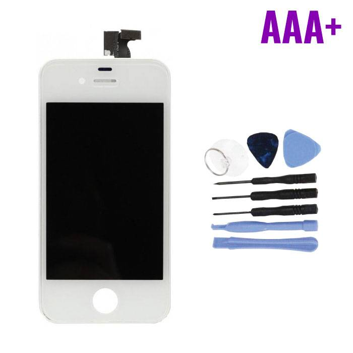 iPhone 4 Screen (Touchscreen + LCD + Parts) AAA + Quality - White + Tools