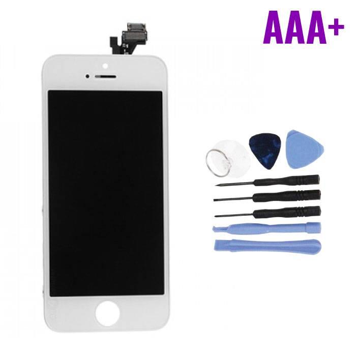 Écran iPhone 5S (Écran tactile + LCD + Pièces) AAA + Qualité - Blanc + Outils