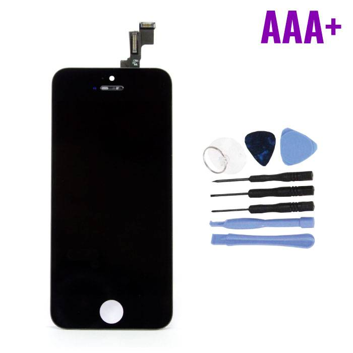 iPhone 5C Screen (Touchscreen + LCD + Parts) AAA + Quality - Black + Tools