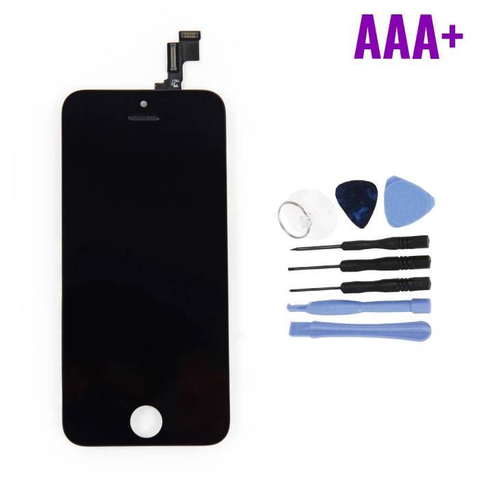 iPhone SE/5S Scherm (Touchscreen + LCD + Onderdelen) AAA+ Kwaliteit - Zwart + Gereedschap