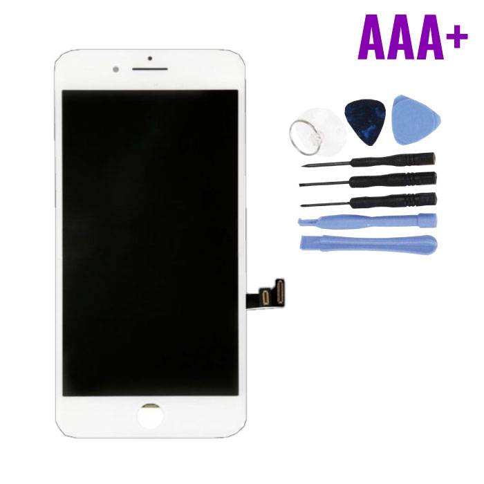 iPhone 8 Plus Screen (Touchscreen + LCD + Parts) AAA + Quality - White + Tools