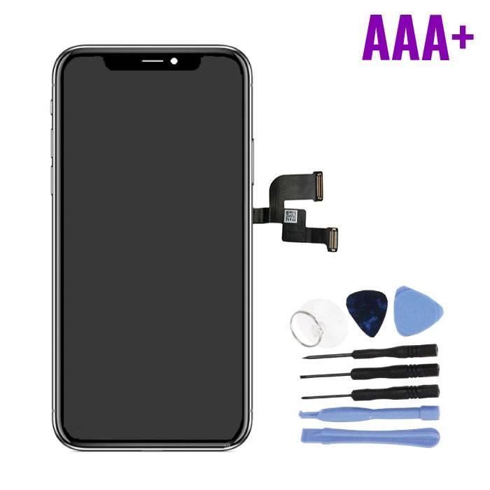 Écran iPhone X (Écran tactile + OLED + Pièces) AAA + Qualité - Noir + Outils