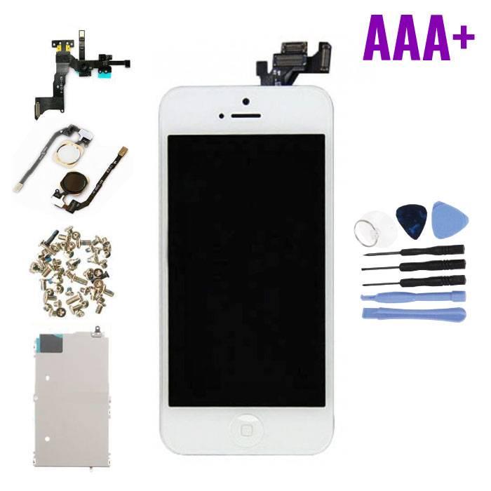 iPhone 5 Voorgemonteerd Scherm (Touchscreen + LCD + Onderdelen) AAA+ Kwaliteit - Wit + Gereedschap