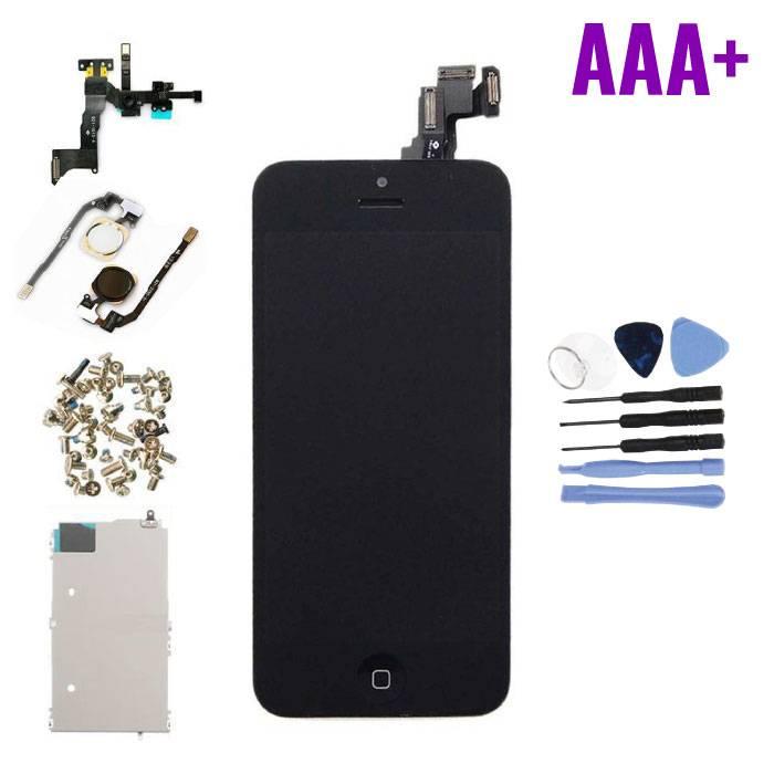iPhone 5C Voorgemonteerd Scherm (Touchscreen + LCD + Onderdelen) AAA+ Kwaliteit - Zwart + Gereedschap