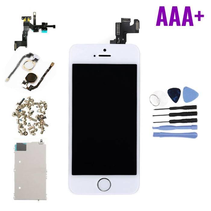 Écran pré-assemblé pour iPhone SE (Écran tactile + LCD + Pièces) Qualité AAA + - Blanc + Outils