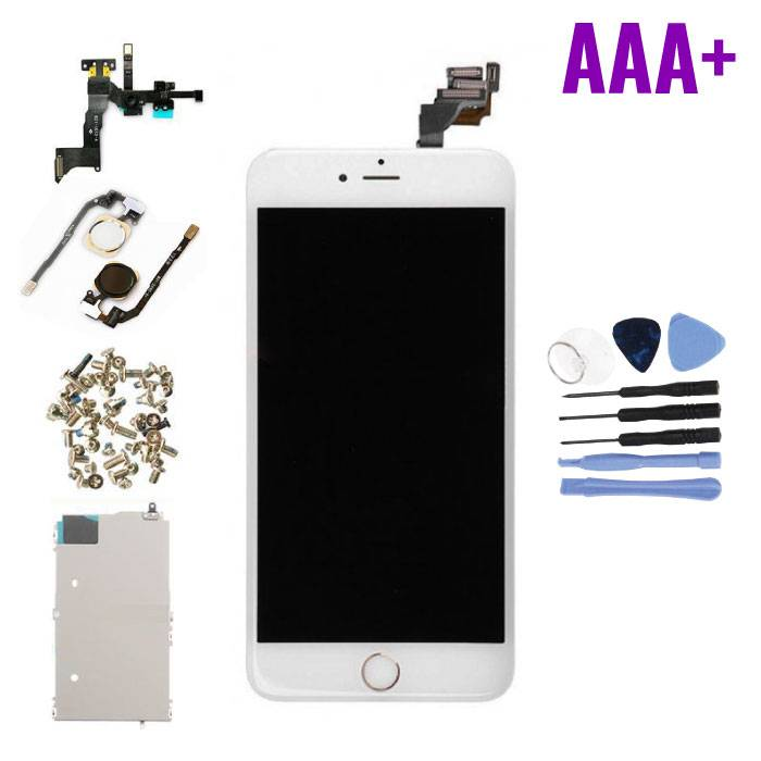 iPhone 6 Plus Pre-assembled Screen (Touchscreen + LCD + Parts) AAA + Quality - White + Tools