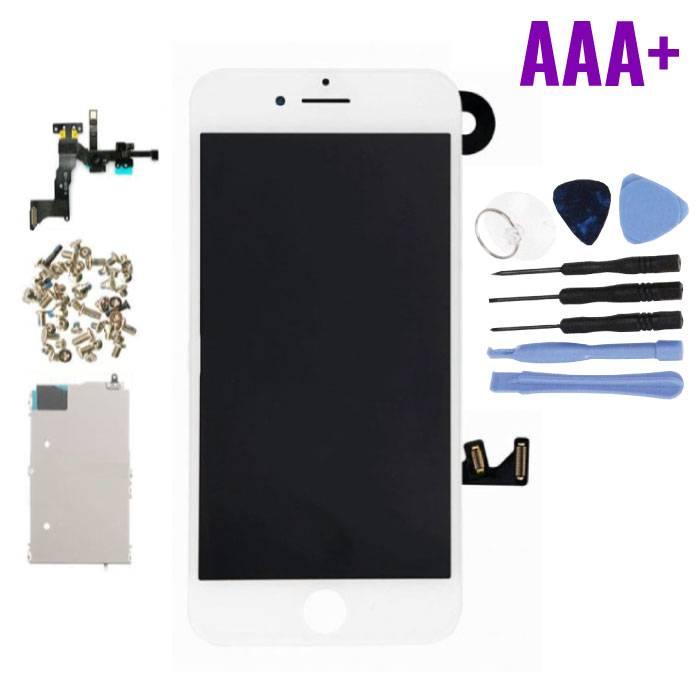 iPhone 7 Plus Voorgemonteerd Scherm (Touchscreen + LCD + Onderdelen) AAA+ Kwaliteit - Wit + Gereedschap