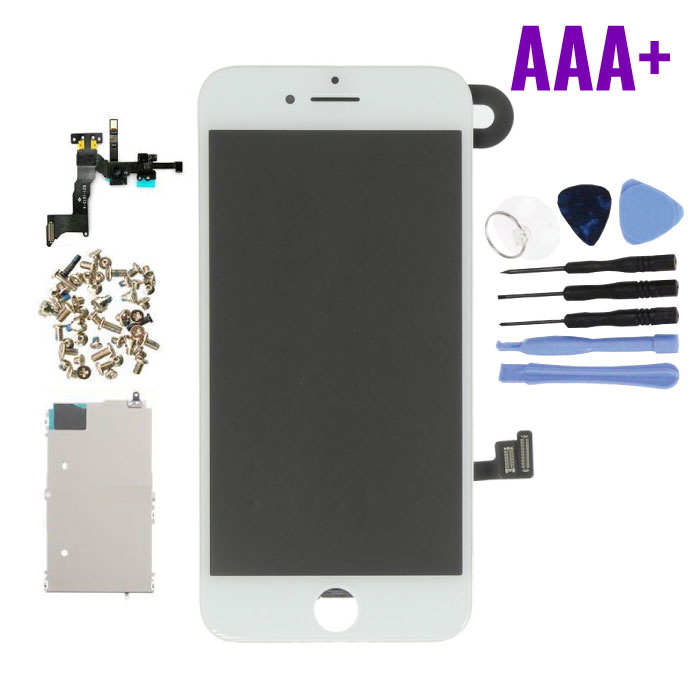 iPhone 8 Pre-assembled Screen (Touchscreen + LCD + Parts) AAA + Quality - White + Tools