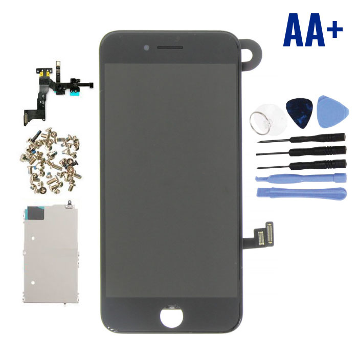 iPhone 8 Pre-assembled Screen (Touchscreen + LCD + Parts) AA + Quality - Black + Tools