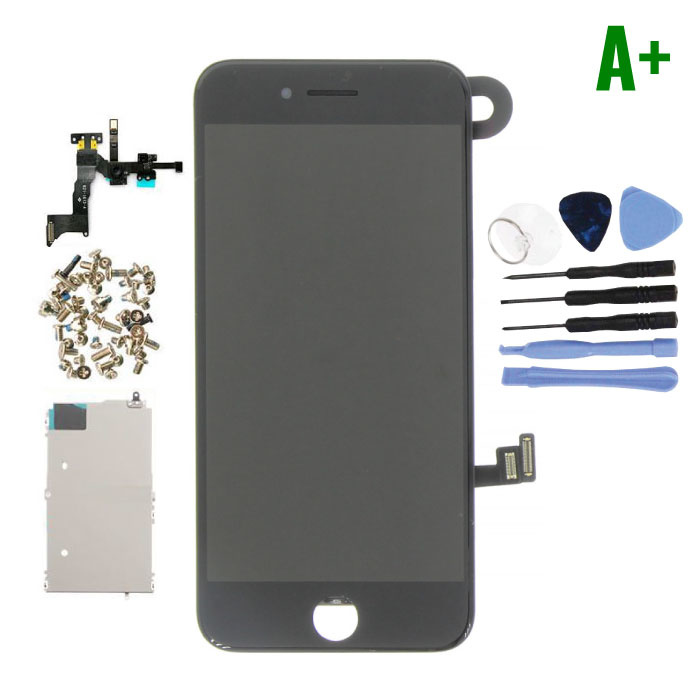 iPhone 8 Pre-assembled Screen (Touchscreen + LCD + Parts) A + Quality - Black + Tools