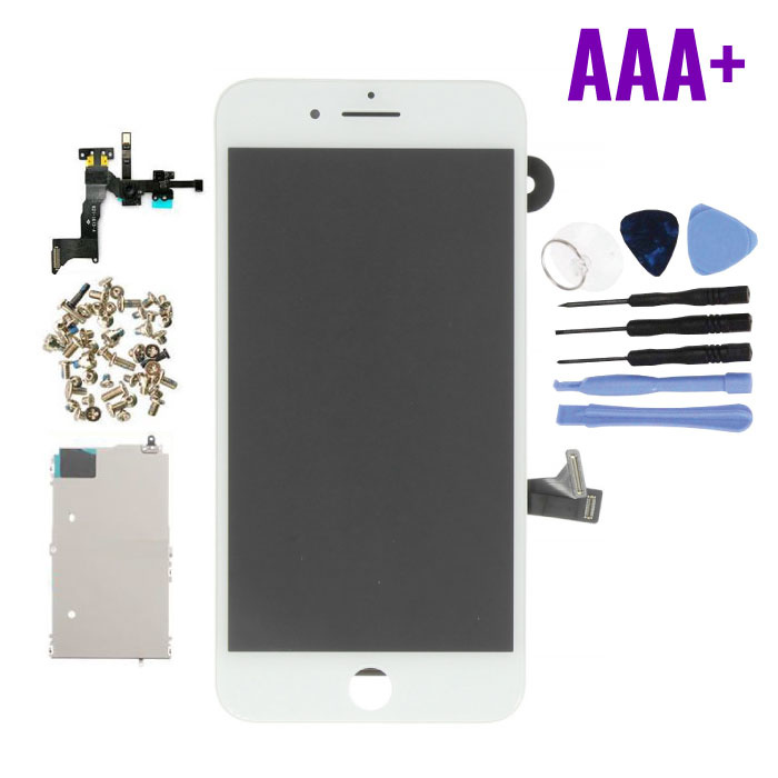 iPhone 8 Plus Pre-assembled Screen (Touchscreen + LCD + Parts) AAA + Quality - White + Tools