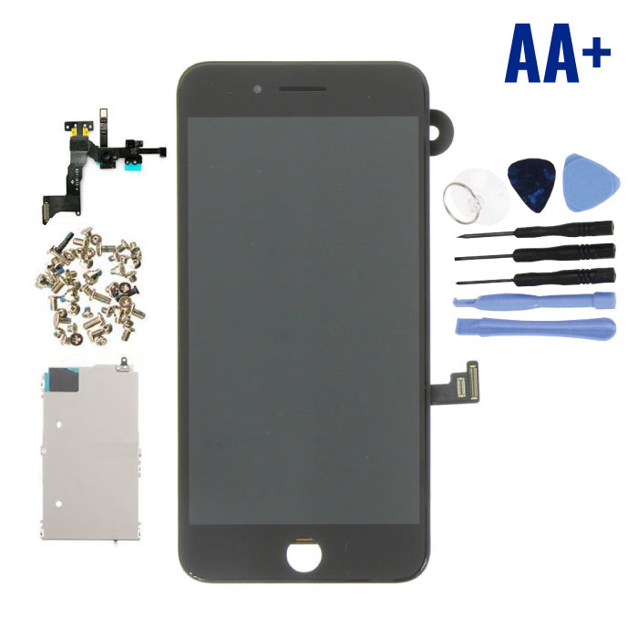 iPhone 8 Plus Pre-assembled Screen (Touchscreen + LCD + Parts) AA + Quality - Black + Tools