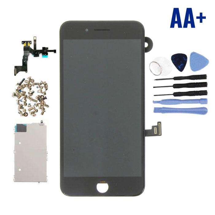 iPhone 8 Plus Voorgemonteerd Scherm (Touchscreen + LCD + Onderdelen) AA+ Kwaliteit - Zwart + Gereedschap