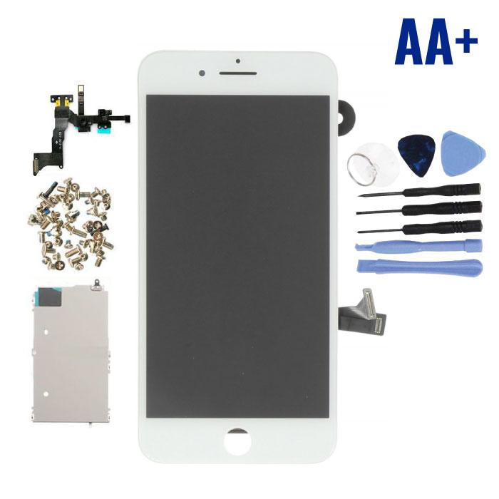 iPhone 8 Plus Voorgemonteerd Scherm (Touchscreen + LCD + Onderdelen) AA+ Kwaliteit - Wit + Gereedschap