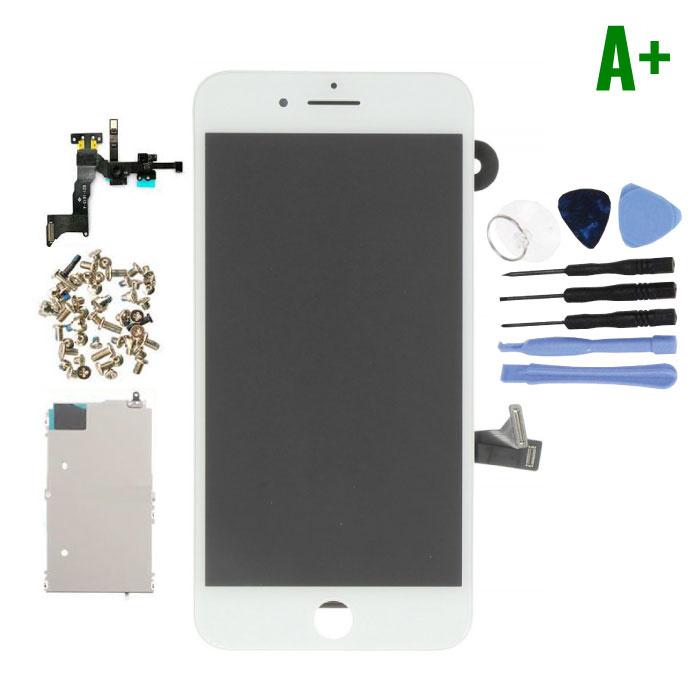 Écran pré-assemblé pour iPhone 8 Plus (Écran tactile + LCD + Pièces) A + Qualité - Blanc + Outils