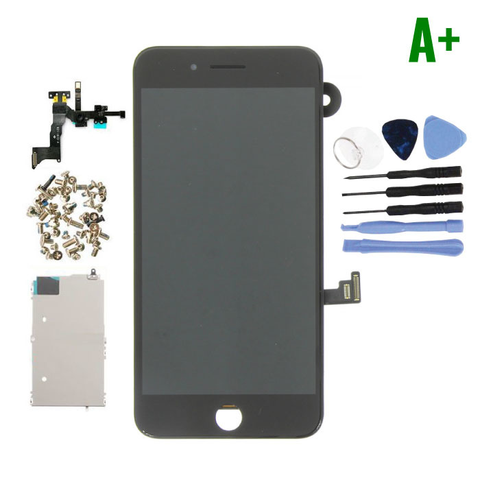 iPhone 8 Plus Voorgemonteerd Scherm (Touchscreen + LCD + Onderdelen) A+ Kwaliteit - Zwart + Gereedschap