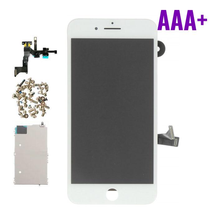 Stuff Certified ® Écran pré-assemblé pour iPhone 8 Plus (Écran tactile + LCD + Pièces) Qualité AAA + - Blanc