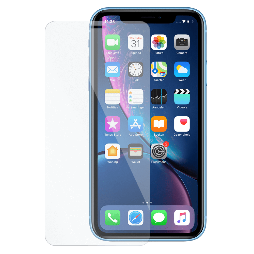 iPhone XR Screen Protector Tempered Glass Film Gehard Glas Glazen