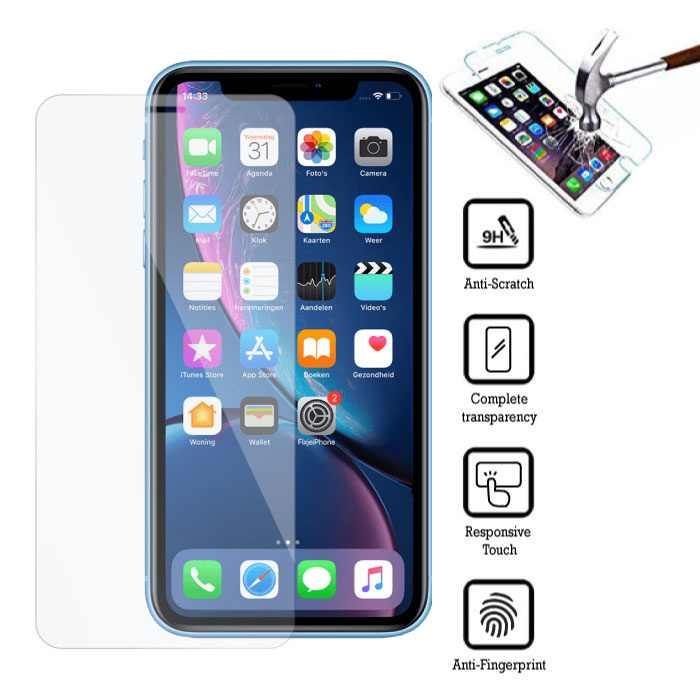 Stuff Certified ® Film de protection d'écran en verre trempé pour iPhone XR