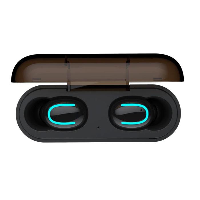 Stuff Certified ® TWS AirPower Draadloze Bluetooth 5.0 Oortjes Air Wireless Pods Earphones Earbuds Zwart - Helder Geluid