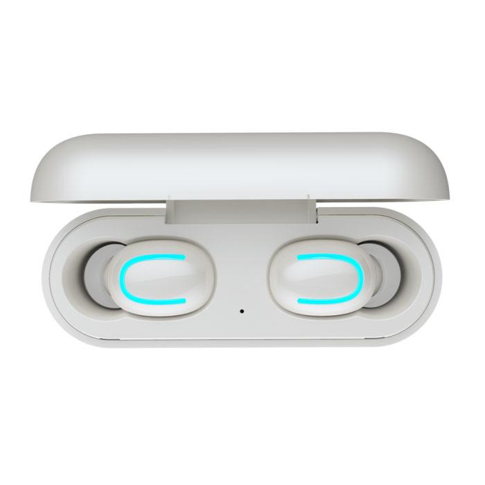Stuff Certified ® TWS AirPower Wireless Bluetooth 5.0 Écouteurs Air Wireless Pods Écouteurs Écouteurs Blanc - Son clair