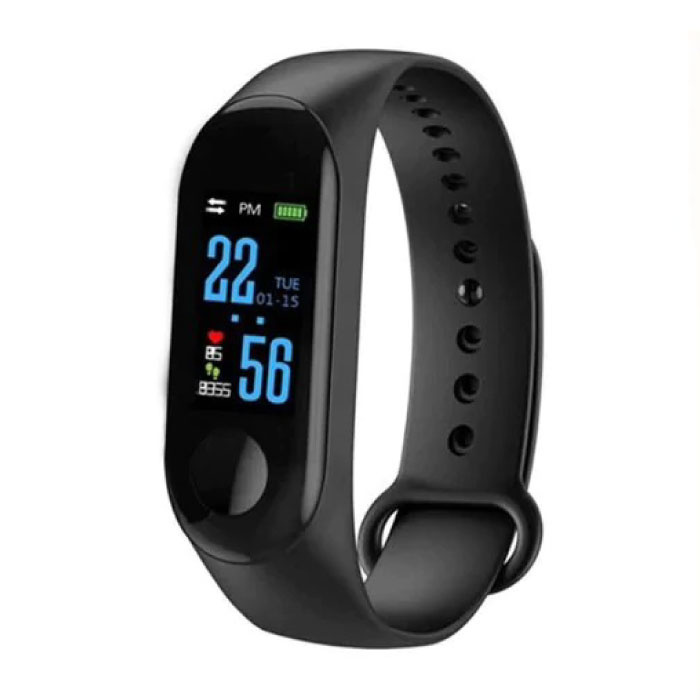 M3 d'origine intelligente Band Fitness Sports Activity Tracker Smartwatch montre OLED Smartphone iOS iPhone Android Samsung Huawei Noir