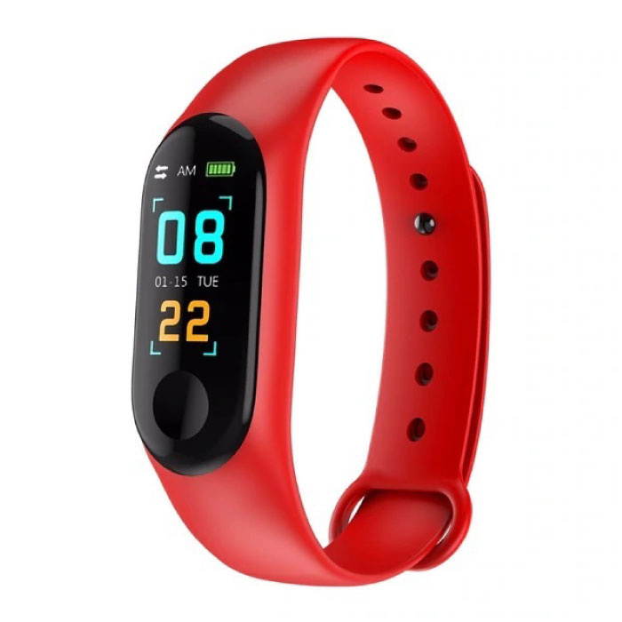M3 d'origine intelligente Band Fitness Sports Activity Tracker Smartwatch montre OLED Smartphone iOS iPhone Android Samsung Huawei Red