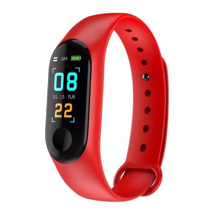 Originele M3 Smartband Fitness Sport Activity Tracker Smartwatch Smartphone Horloge OLED iOS Android iPhone Samsung Huawei Rood