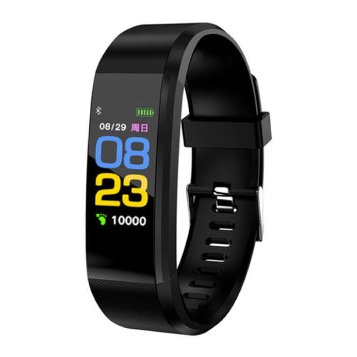 Originele ID115 Plus Smartband Fitness Sport Activity Tracker Smartwatch Smartphone Horloge iOS Android iPhone Samsung Huawei Zwart