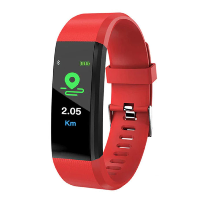 Originele ID115 Plus Smartband Fitness Sport Activity Tracker Smartwatch Smartphone Horloge iOS Android iPhone Samsung Huawei Rood