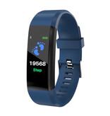 Stuff Certified ® Originele ID115 Plus Smartband Sport Smartwatch Smartphone Horloge iOS Android Blauw